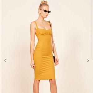 Reformation Dresses - NWT Reformation Jayne Ribbed Underwire Midi Dress